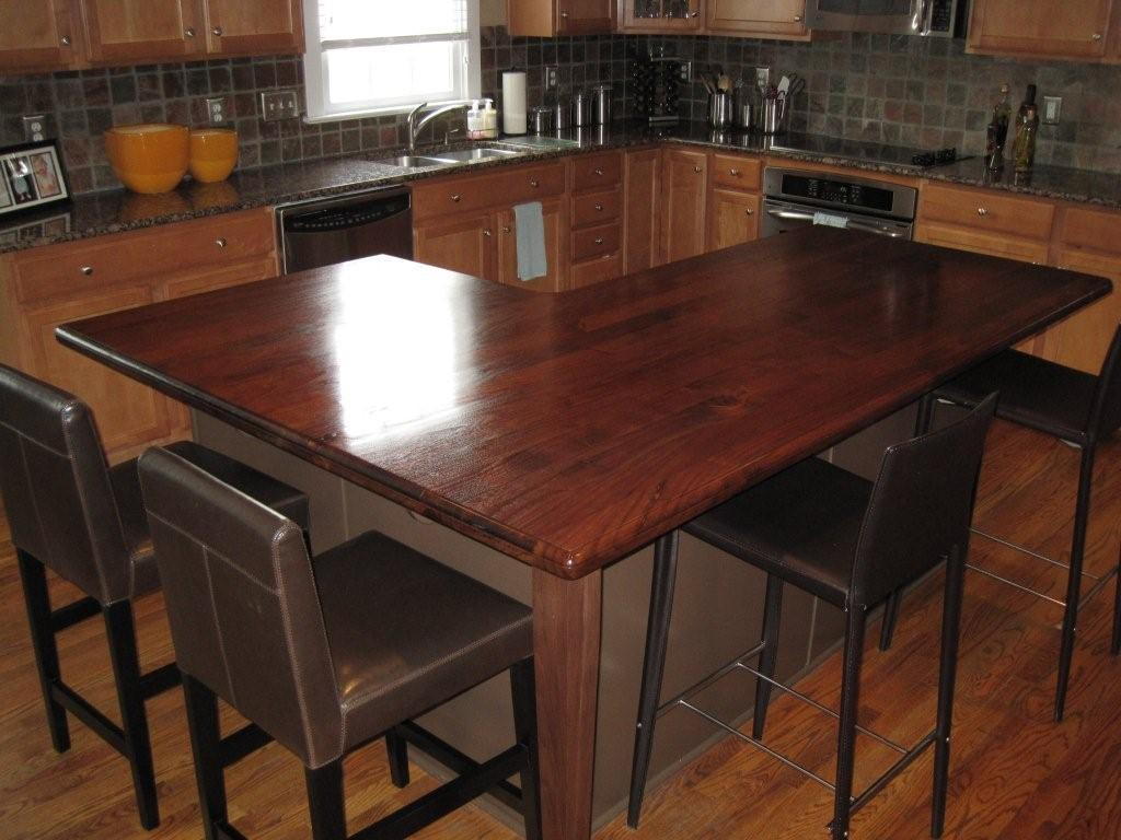 Walnut Wood Counter, Flat Grain Construction, ½u201d Beaded Edge Profile,  Waterlox Finish. Installed In Huntersville, NC.